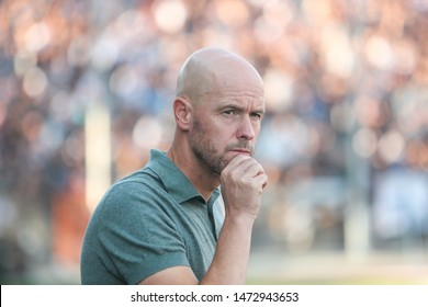 Thessaloniki, Greece - August 6, 2019 Coach of Ajax in action during the UEFA Champions League third qualifying round between PAOK vs Ajax AFC at Toumba stadium