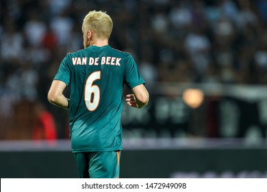 Thessaloniki, Greece - August 6, 2019 Player of Ajax Donny van de Beek in action during the UEFA Champions League third qualifying round between PAOK vs Ajax AFC at Toumba stadium
