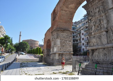 THESSALONIKI, GREECE - CIRCA AUGUST 2019: The Arch of Galerius