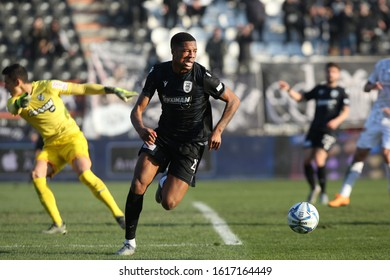 Thessaloniki, Greece - Jan 15, 2020. PAOK FC player Chuba Akpom in action during a soccer match between PAOK FC and OFI FC for the Greek Soccer Cup.