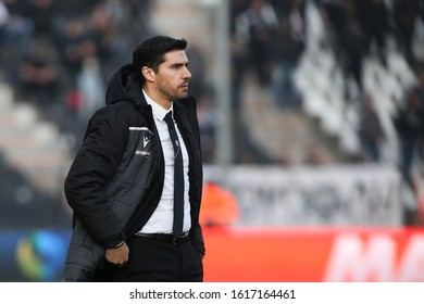 Thessaloniki, Greece - Jan 15, 2020. PAOK FC coach Abel Ferreira during a soccer match between PAOK FC and OFI FC for the Greek Soccer Cup.