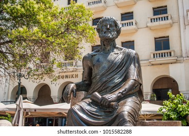 Thessaloniki, Greece - June 06, 2017: Aristotelous Square, Thessaloniki, Greece. Aristotelous Square is the main city square of Thessaloniki and is located on the city's waterfront.