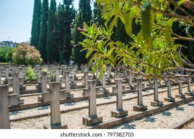 Thessaloniki, Greece - June 06, 2017: Zeitenlik war cemetery in Thessaloniki