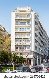 THESSALONIKI, GREECE - MAR 18, 2015: Architecture of Thessaloniki, Greece. Thessaloniki is the capital of Greek Macedonia, a popular touristic destination