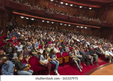 THESSALONIKI - GREECE, NOV 04: People during opening ceremony of 53rd Thessaloniki International Film Festival at Olympion Cinema, November 04, 2012 in Thessaloniki, Greece