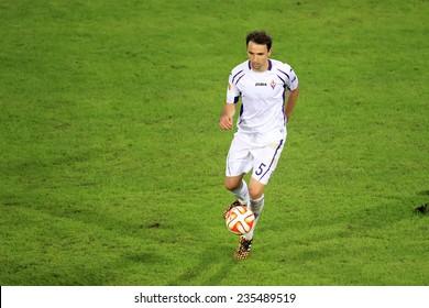 THESSALONIKI, GREECE - NOV 12, 2014 : Badelj of Fiorentina during the UEFA Europa League match Paok vs Fiorentina.