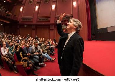 Thessaloniki, Greece - November 7, 2017: Director and screenwriter Alexander Payne during the 58th international Thessaloniki Film Festival at Olympion Cinema