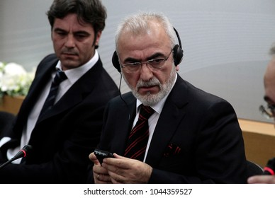 Thessaloniki, Greece. October 12, 2012. PAOK FC owner Ivan Savvidis during Press Conference.