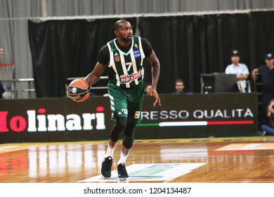 Thessaloniki, Greece - October 13, 2018. Panathinaikos's player Stephane Lasme in action during a game between Aris BC and Panathinaikos BC.