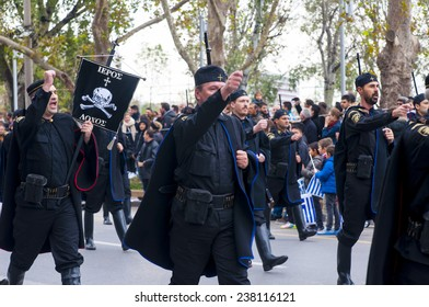 THESSALONIKI, GREECE - OCTOBER 28, 2014: Air military technology on Ohi Day parade on October 28, 2014 in Thessaloniki, Greece.