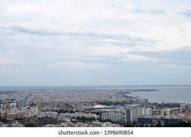 Thessaloniki Greece - panoramic view from St. John monastery