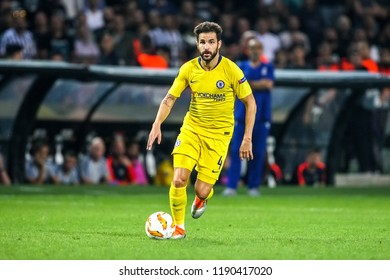 Thessaloniki, Greece - Sept 20, 2018: Player of Chelsea Cesc Fabregas in action during the UEFA Europa League between PAOK vs FC Chelsea played at Toumba Stadium
