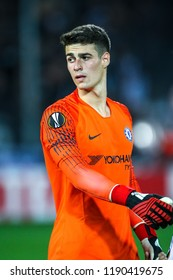 Thessaloniki, Greece - Sept 20, 2018: Player of Chelsea Kepa Arrizabalaga in action during the UEFA Europa League between PAOK vs FC Chelsea played at Toumba Stadium