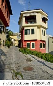 Thessaloniki, Greece - September 10, 2015: Palamidou street