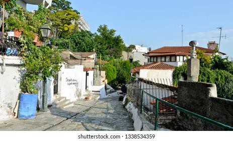Thessaloniki, Greece - September 10, 2015: Old town