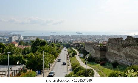 Thessaloniki, Greece - September 10, 2015: City view