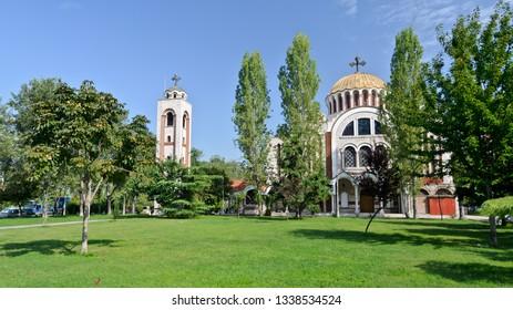 Thessaloniki, Greece - September 11, 2015: Saints Cyril and Methodios Orthodox Church