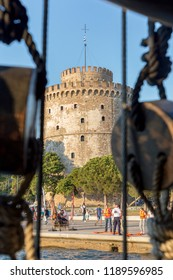 THESSALONIKI, GREECE - SEPTEMBER 15: General view of White Tower in Thessaloniki on September 15, 2018.