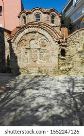THESSALONIKI, GREECE - SEPTEMBER 22, 2019: Ancient Byzantine Baths at Ano Poli (Upper Town) in city of Thessaloniki, Central Macedonia, Greece