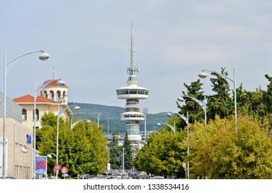 Thessaloniki, Greece - September 8, 2015: TV tower