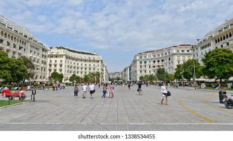 Thessaloniki, Greece - September 8, 2015: Aristotle Square