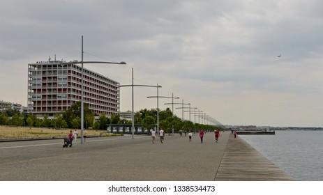 Thessaloniki, Greece - September 8, 2015: Meg. Alexandrou Embankment