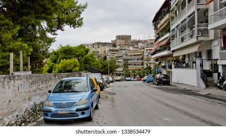 Thessaloniki, Greece - September 8, 2015: Old town