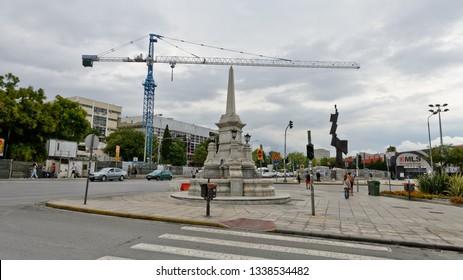 Thessaloniki, Greece - September 8, 2015: Hamidiye Fountain