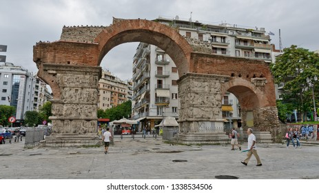 Thessaloniki, Greece - September 8, 2015: Arch and Tomb of Galerius