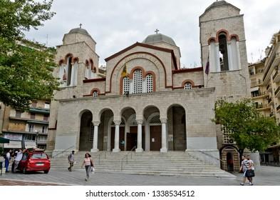 Thessaloniki, Greece - September 8, 2015: Ecclicia Panagia Dexia