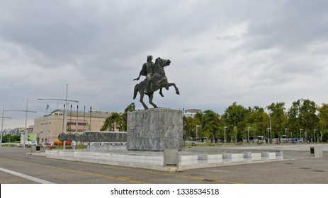 Thessaloniki, Greece - September 8, 2015: Statue Alexander the Great
