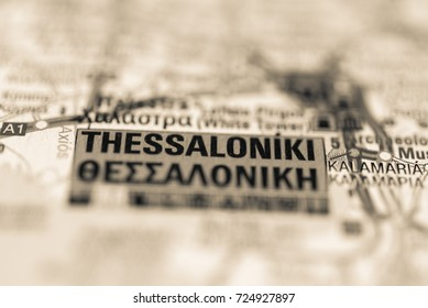 Thessaloniki on map.