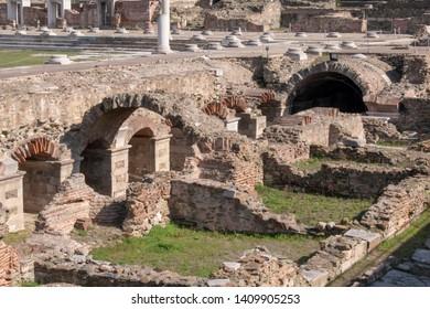 Thessaloniki Roman Agora archaeological site Greece