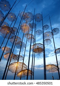 Thessaloniki Umbrellas / The picture captures the Umbrellas monument in Thessaloniki, Greece.