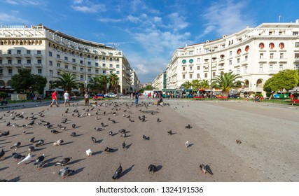 THESSALONIKI/GREECE - October 9, 2015: Aristotelous square, the main square of Thessaloniki, the second most populated city in Greece.