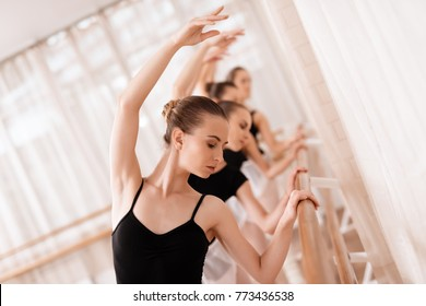 They train dance moves. They use ballet barre. They are professional theater actors.