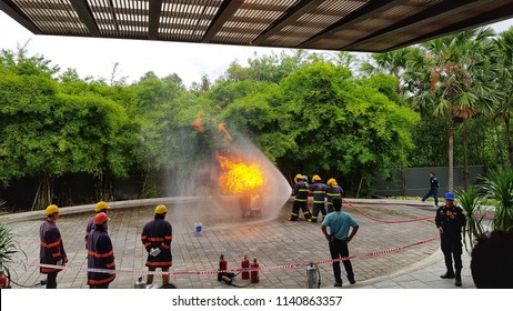 They are traning fire hydrant at the ideal hotel in 24 july 2018