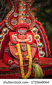 Theyyam ,  is a popular ritual form of worship in Kerala, India, predominantly in the Kolathunadu area . it is a sacred ritual art form that dates back to at least 1,500 years