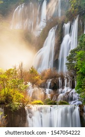 Thi Lo Su (Tee Lor Su) waterfall, Umphang Wildlife Sanctuary, Tak, Thailand. It is claimed to be the largest and highest waterfall in Thailand.