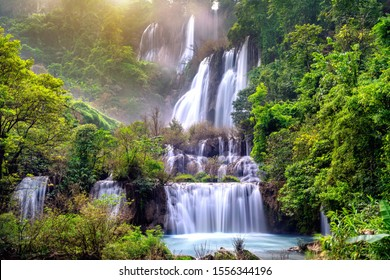 Thi Lo Su (Tee Lor Su) in Tak province. Thi Lo Su waterfall the largest waterfall in Thailand.