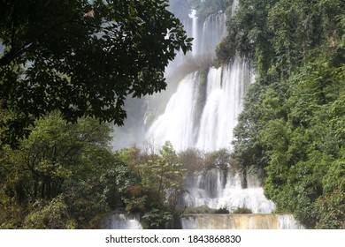 Thi Lo Su (Tee Lor Su) waterfall. the most beautiful and largest waterfall in Tak,Thailand.