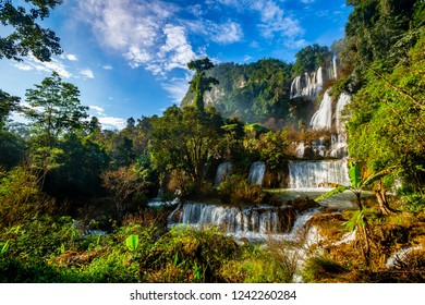 Thi Lo Su Waterfall forest landscape Thailand
