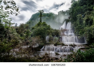 Thi lo su waterfall or tee lor su, Umphang, Tak province, Thailand. This waterfall is one of the most famous waterfalls in Thailand. Thi lo su is claimed to be the Biggest waterfall in Thailand.