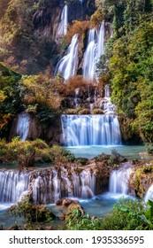 Thi Lo Su waterfall(Tee Lor Su) in Tak province. Thi Lo Su waterfall the largest waterfall in Thailand.