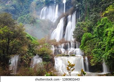 Thi Lo Su(Tee Lor Su) waterfall in Umphang Wildlife Sanctuary, Tak, Thailand. Thi Lo Su is claimed to be the largest and highest waterfall in northwestern Thailand