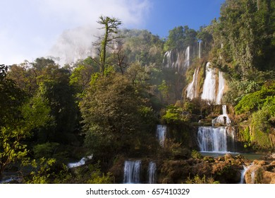 Thi Lo Su(Tee Lor Su) waterfall in Umphang Wildlife Sanctuary. Thi Lo Su is claimed to be the largest and highest waterfall in northwestern Thailand.