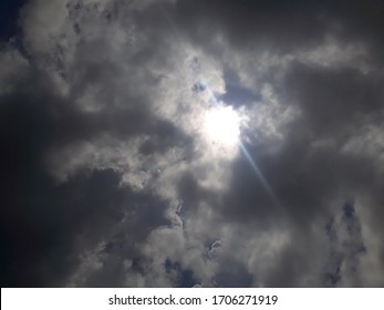 thick clouds and sunlight during the day