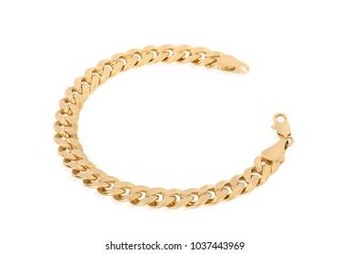 Thick gold bracelet for men