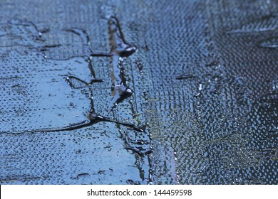 thick oil paint texture, pallet knife detail structure on canvas, macro, metallic look