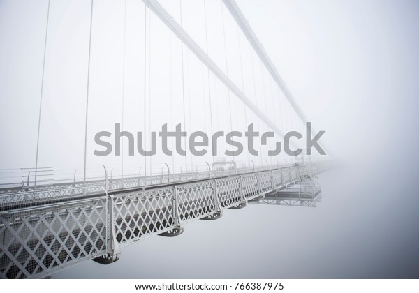 Thick September fog plunged the Clifton Suspension Bridge into a mystery road to nowhere creating a wonderful effect.
